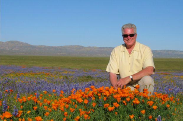 Huell in poppy field