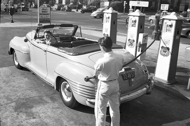 Pumping gas in Los Angeles archives