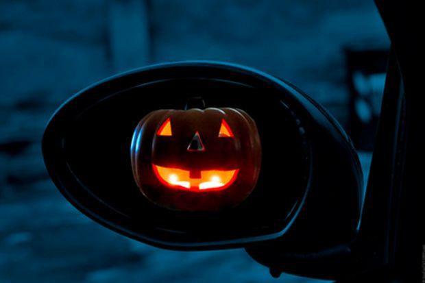 Pumpkin rear view mirror