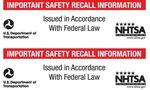 US Recall notice