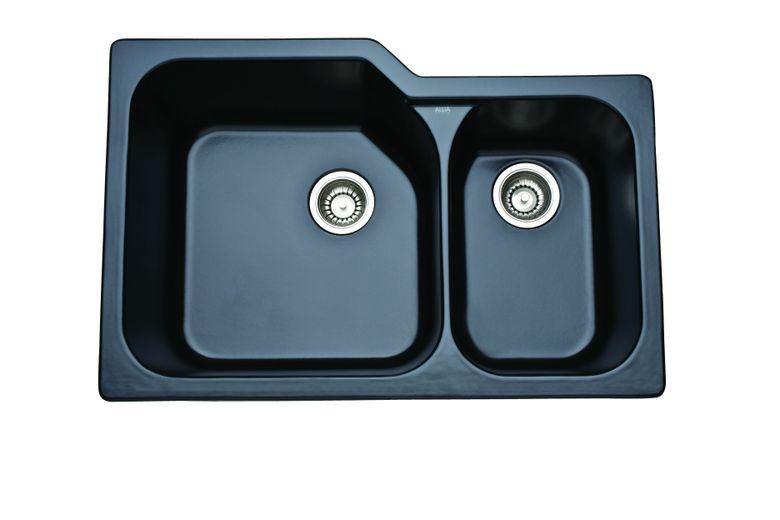 ROHL Allia Fireclay 2 Bowl Undermount Kitchen Sink