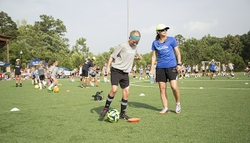 Mia Hamm at Live Fearless Soccer Clinic