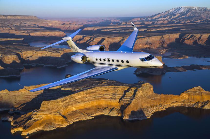 Gulfstream G650ER Aerial 012