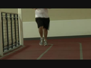 Jogging on inside track WMV