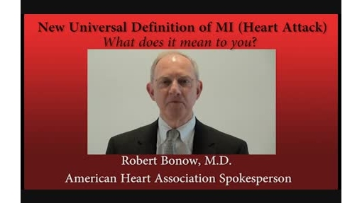 Dr. Robert Bonow on MI definition