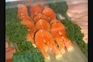 Fish - Salmon in market