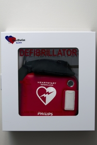 AED - Wall mounted close up Vertical
