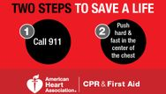Learn the two steps to help save a life!
