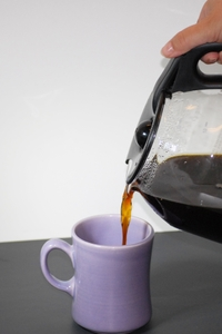 Coffee being poured