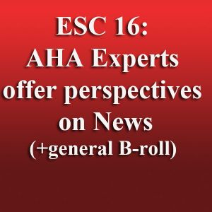 AHA Experts on ESC 16 News
