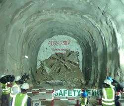 ADSSC STEP Tunnel Boring Machine Breakthrough 5, December 18, 2012