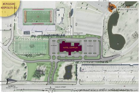 CMU proposed hotel site plan