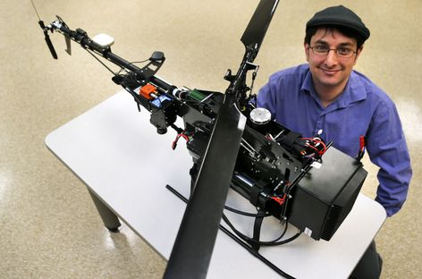 CMU advances Great Lakes research with unmanned helicopter, hyperspectral camera