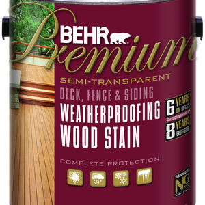 BEHR Premium Weatherproofing Semi-Transparent Wood Stain - Gallon