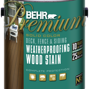 BEHR Premium Weatherproofing Solid Color Wood Stain