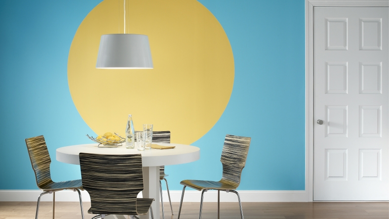 BEHR Paints Geometric Dining Room