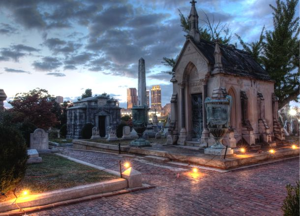 Halloween Marsh Mausoleum at Historic Oakland Cemetery