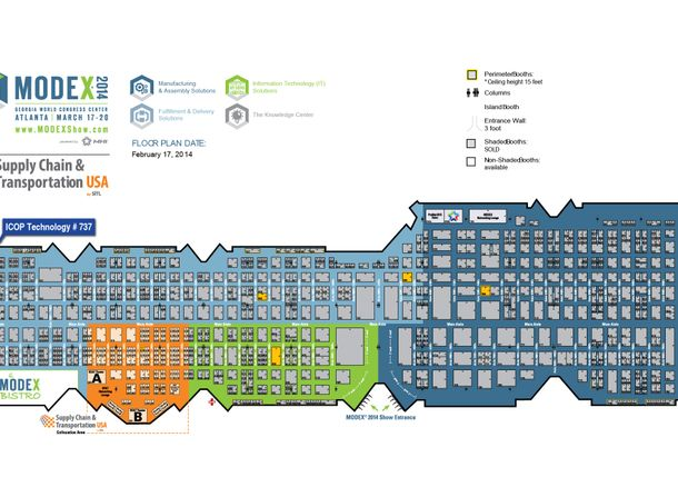MODEX 2014 Floor Plan