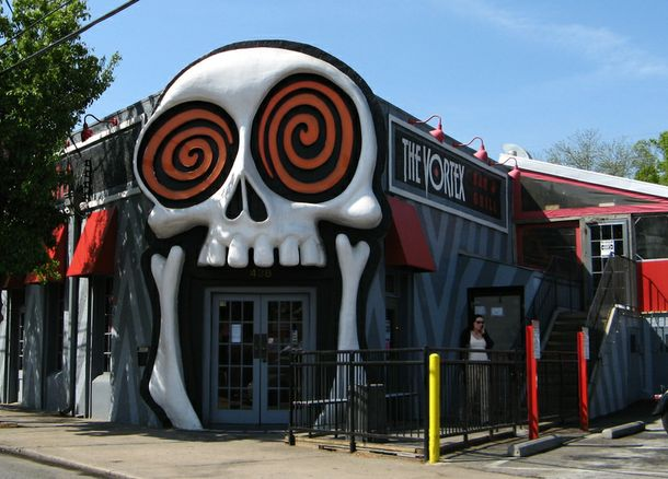 The Vortex Bar and Grill in Little Five Points near Atlanta, Georgia