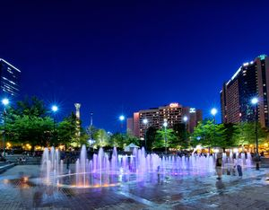 Centennial Olympic Park and downtown Atlanta