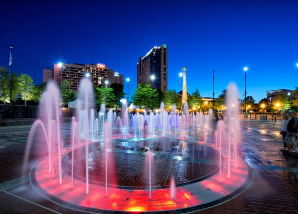 Centennial Olympic Park at Dusk