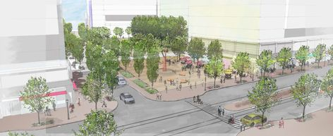 Planned 12th St. plaza