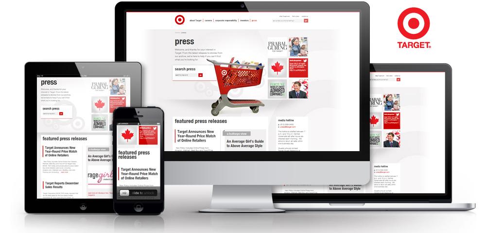 Target Mobile Responsive Design Pressroom