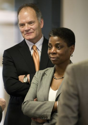 Xerox CEO Ursula Burns with ACS President and CEO Lynn Blodgett