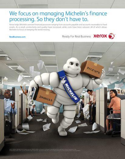 Xerox ad Xerox 39 s Michelin Print ad