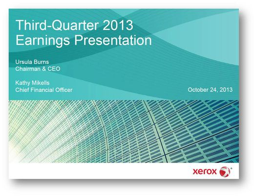 Q3 2013 Earnings Presentation Cover
