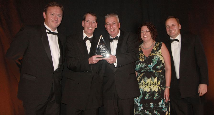 Xerox European Team Accepts Product of the Year Award