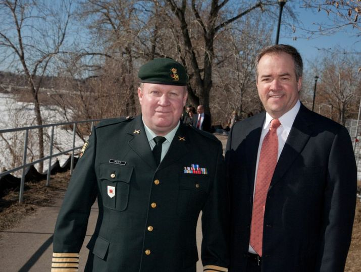 Mayor Bronconnier & Colonel T.M. Putt