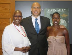 Judith Jamison, Mayor Cory Booker and Nasha Thomas at AileyCamp Newark